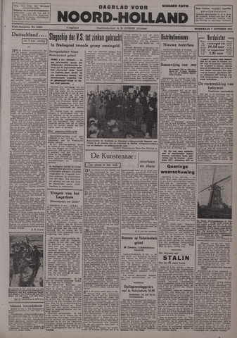 Dagblad Noord-Holland, Schager editie 1942-10-07