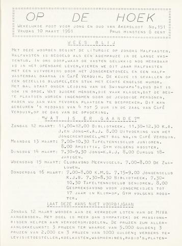 Op De Hoek, weekblad voor Akersloot 1961-03-10