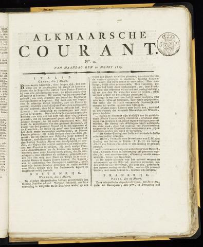 Alkmaarsche Courant 1815-03-20