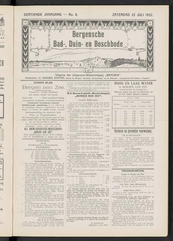 Bergensche bad-, duin- en boschbode 1922-07-22
