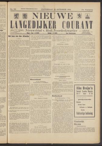 Nieuwe Langedijker Courant 1932-10-22