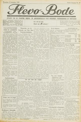 Flevo-bode: nieuwsblad voor Wieringen-Wieringermeer 1949-09-21