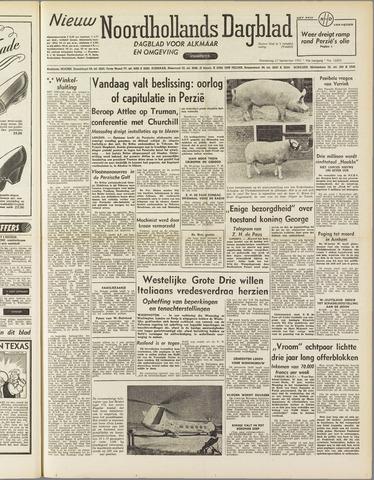 Nieuw Noordhollandsch Dagblad : voor Alkmaar en omgeving 1951-09-27