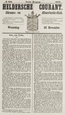 Heldersche Courant 1870-11-30