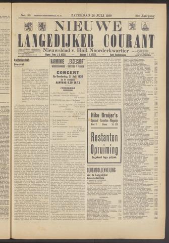 Nieuwe Langedijker Courant 1930-07-26