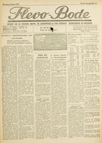 Flevo-bode: nieuwsblad voor Wieringen-Wieringermeer 1947-01-08
