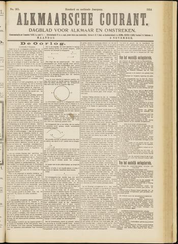 Alkmaarsche Courant 1914-11-09