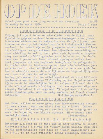 Op De Hoek, weekblad voor Akersloot 1956-03-24