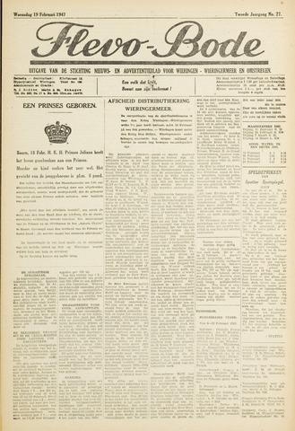 Flevo-bode: nieuwsblad voor Wieringen-Wieringermeer 1947-02-19