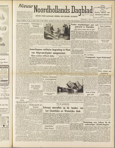 Nieuw Noordhollandsch Dagblad : voor Alkmaar en omgeving 1949-04-11