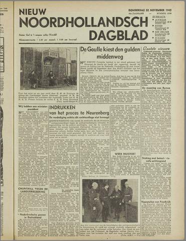Nieuw Noordhollandsch Dagblad : voor Alkmaar en omgeving 1945-11-22
