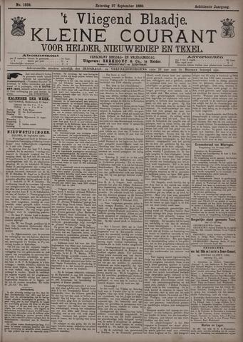 Vliegend blaadje : nieuws- en advertentiebode voor Den Helder 1890-09-27