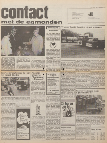Contact met de Egmonden 1980-10-08