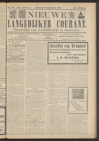 Nieuwe Langedijker Courant 1925-09-26