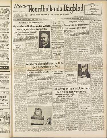 Nieuw Noordhollandsch Dagblad : voor Alkmaar en omgeving 1949-03-05
