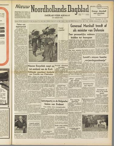 Nieuw Noordhollandsch Dagblad : voor Alkmaar en omgeving 1951-09-13