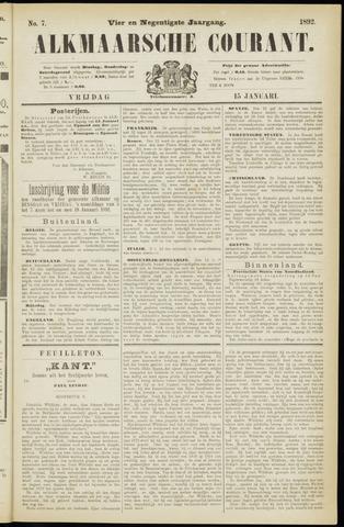 Alkmaarsche Courant 1892-01-15