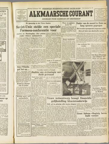 Alkmaarsche Courant 1955-02-14