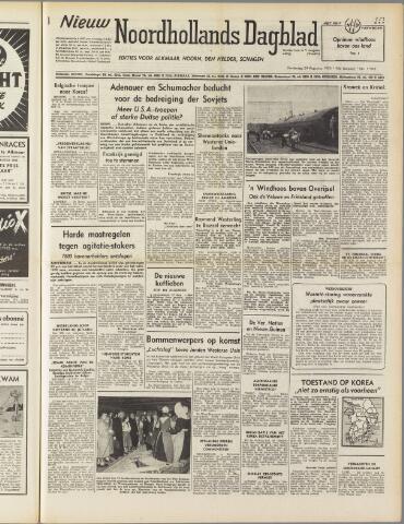 Nieuw Noordhollandsch Dagblad : voor Alkmaar en omgeving 1950-08-24