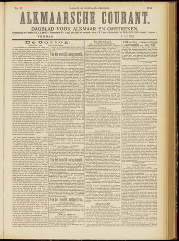 Alkmaarsche Courant 1915-04-02