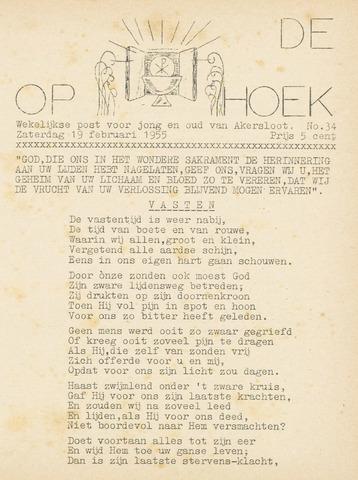 Op De Hoek, weekblad voor Akersloot 1955-02-19