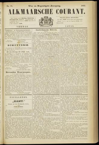 Alkmaarsche Courant 1892-07-01