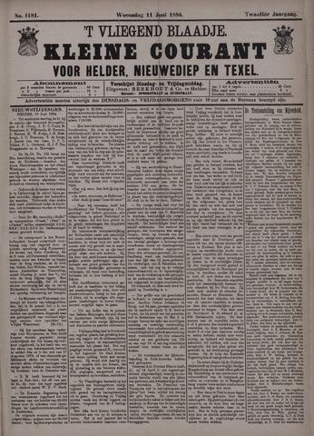 Vliegend blaadje : nieuws- en advertentiebode voor Den Helder 1884-06-11