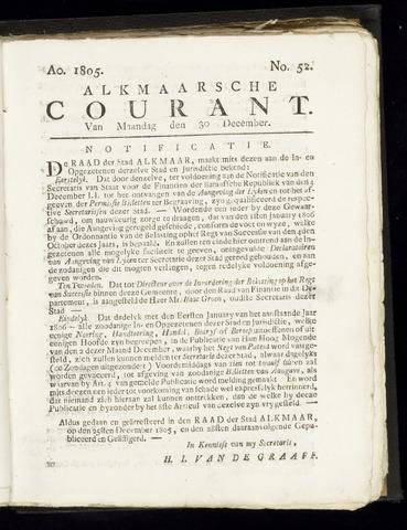 Alkmaarsche Courant 1805-12-30