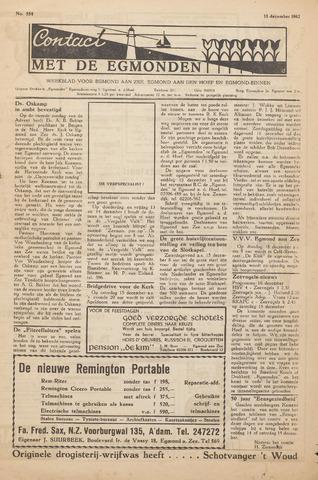Contact met de Egmonden 1962-12-13