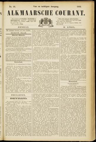 Alkmaarsche Courant 1882-04-16