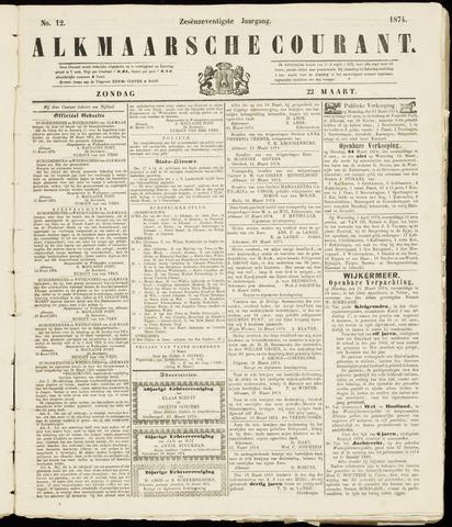 Alkmaarsche Courant 1874-03-22