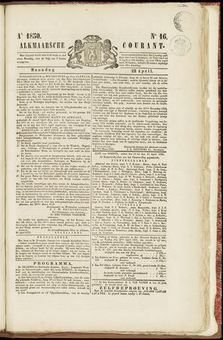 Alkmaarsche Courant 1850-04-22