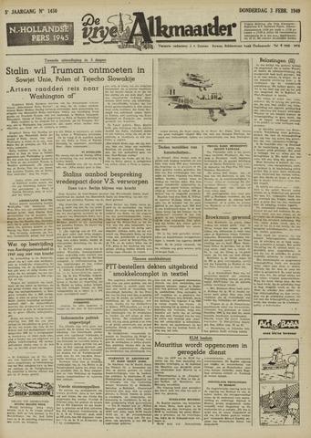 De Vrije Alkmaarder 1949-02-03
