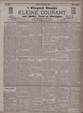 Vliegend blaadje : nieuws- en advertentiebode voor Den Helder 1900-09-05