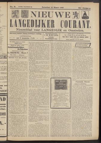 Nieuwe Langedijker Courant 1925-03-14