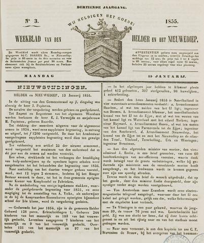 Weekblad van Den Helder en het Nieuwediep 1855-01-15