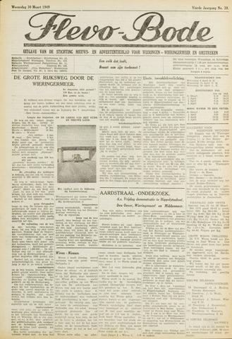 Flevo-bode: nieuwsblad voor Wieringen-Wieringermeer 1949-03-30