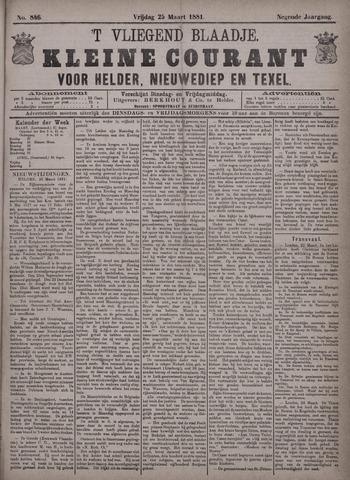Vliegend blaadje : nieuws- en advertentiebode voor Den Helder 1881-03-25
