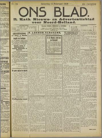 Ons Blad : katholiek nieuwsblad voor N-H 1916-02-05