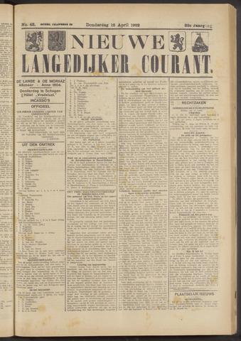 Nieuwe Langedijker Courant 1923-04-12
