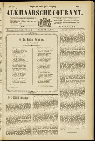 Alkmaarsche Courant 1887-02-20