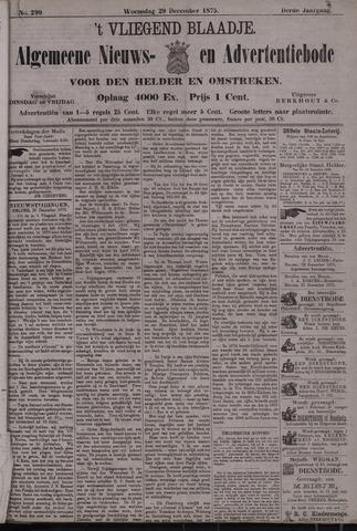 Vliegend blaadje : nieuws- en advertentiebode voor Den Helder 1875-12-29