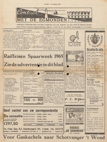 Contact met de Egmonden 1965-10-21
