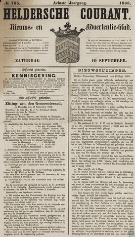 Heldersche Courant 1868-09-19
