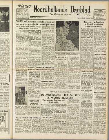 Nieuw Noordhollandsch Dagblad : voor Alkmaar en omgeving 1947-10-29