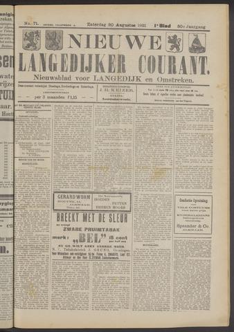Nieuwe Langedijker Courant 1921-08-20