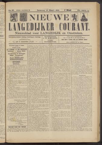 Nieuwe Langedijker Courant 1923-03-24