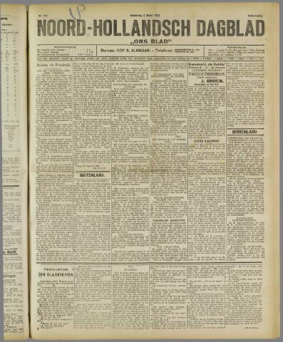 Ons Blad : katholiek nieuwsblad voor N-H 1922-03-02