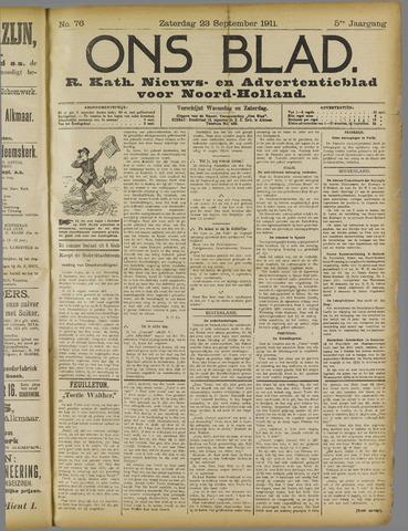 Ons Blad : katholiek nieuwsblad voor N-H 1911-09-23