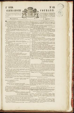 Alkmaarsche Courant 1850-04-01